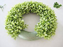 faux boxwood wreath garden pinterest wreaths craft and