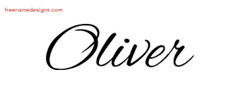 cursive name tattoo designs oliver free graphic free name designs