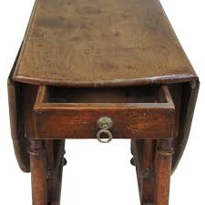 Oak Drop Leaf Table Antique George Iii Period Oak Gate Leg Drop Leaf Table