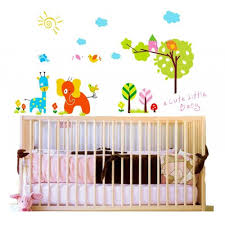 Elephant Wall Decals For Nursery by Cute Cartoon Animals Zoo Jungle Wall Decal Easy To Peel And