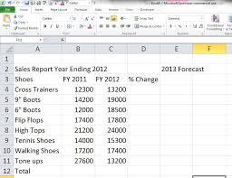excel 2010 tutorial for beginners 10 excel for noobs tutorial a step by step creation of a sales report
