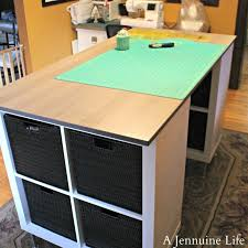build a craft table diy counter height craft table a jennuine life