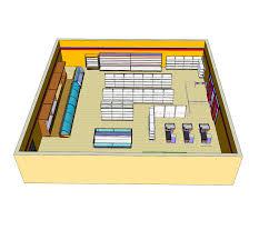 3d model of a supermarket layout sketchup model cadblocksfree
