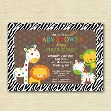 Baby Shower Invitation Cards U2013 Jungle Invitation Free Printable Invitation Design