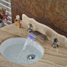 bathroom faucets hole waterfall bathroom faucet bronze sink