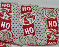 wired christmas ribbon ho ho ho ribbon etsy