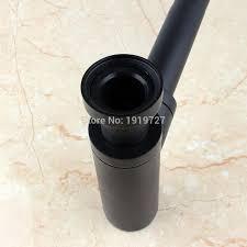matte black brass euro basin bottle plumbing p trap wash pipe
