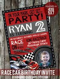 boy birthday invitations red race car chalkboard birthday party
