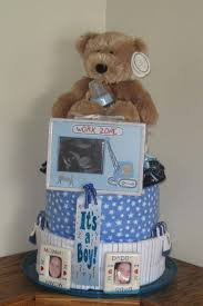 Diaper Cake Directions Under Construction Diaper Cake What An Adorable Diaper Cake Theme
