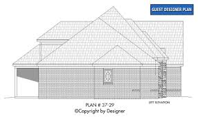 house plan 37 29 vtr house plans by garrell associates inc right elevation house plan 37 29 left elevation