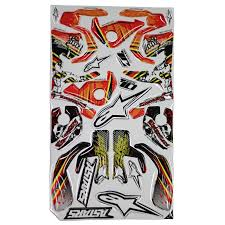 motocross bike boots alpinestars tech 10 red yellow motocross bike boots graphics decal