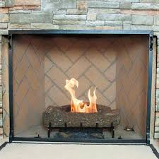 craftsman fireplace screen vintage iron 39 u0027 u0027 x 31 u0027 u0027 northline