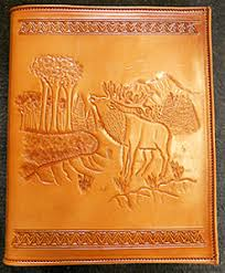 personalized leather photo album elk personalized leather memory books personalized