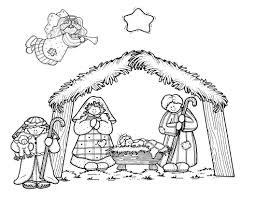 nativity coloring page chuckbutt com