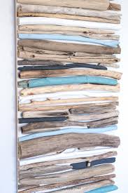 diy coastal decor painted driftwood wall art driftwood wall