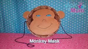 Paper Plate Monkey Craft - paper plate monkey mask how to make a monkey mask