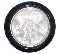 led lights for trucks and trailers 4 inch round piranha led 10 or 24 diodes truck trailer reverse