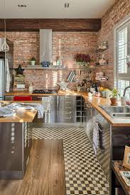 kitchen ideas faux brick accent wall brick effect wall red brick