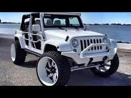 Off Road Tires 20 Inch Rims White Jeep Wrangler With Forgiatos And 37 Inch Mud Tires Youtube