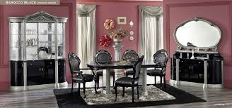classic dining room barocco dining minimalist black and silver