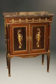 Marble Top Buffet by French Empire Style Antique Buffet With Marble Top