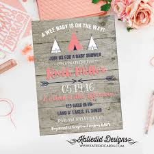 tribal baby shower invitation boho tee pow wow gender neutral