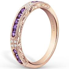 amethyst wedding rings kirk kara purple amethyst diamond wedding band