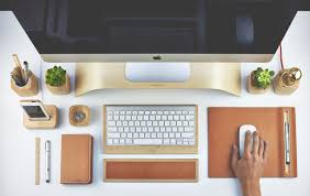 professional creative graphic designer working office desk
