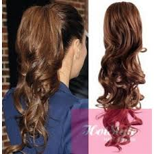 curly clip in hair extensions clip in ponytail wrap braid hair extension 24 curly medium brown
