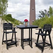 High Bistro Table Set Outdoor Poly Lumber Polywood Outdoor Counter Height Sets