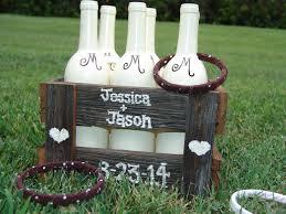 rustic ring toss gamebrownwhitereclaimed barn woodrustic