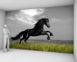 papier peint chevaux pour chambre papier peint cheval noir 82 5 euros