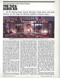 a book about el internacional tapas bar u0026 restaurant ny 1984 86