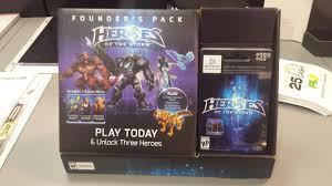 battlenet prepaid card gamestop now has founder packs available in store heroesofthestorm