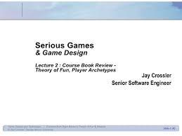 game design theory game design 2 theory of fun