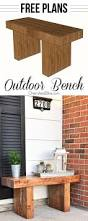 Patio Bench Designs by 27 Best Diy Outdoor Bench Ideas And Designs For 2017
