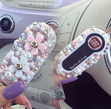 gold glitter car fiat key covers sparkle with emily