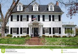 Colonial Front Porch Designs White Cape Cod Style Home With Black Shutters Google Search