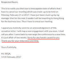 Acknowledgement Letter Request how to write a polite meeting cancellation email even if it s