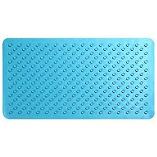 ollieroo bath mat rubber no slip bathtub shower mat blue