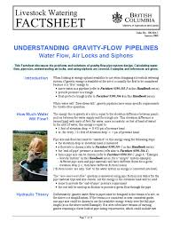 flow under gravity pipe fluid conveyance pressure