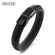 leather bracelets for men online get cheap black bracelet for men aliexpress com alibaba