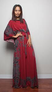 summer maxi dress long wide sleeve bohemian print by nuichan