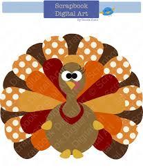 colorful turkey digital clip thanksgiving turkey turkey clip