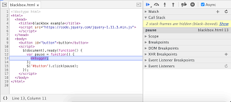 how to step through your code tools for web developers google
