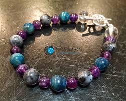 blue quartz bracelet images Weight loss blue apatite amethyst larvikite quartz bracelet jpg