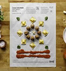 inventer une recette de cuisine ikea invente les posters de recettes de cuisine qui vont au four