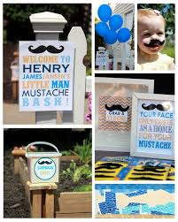 little man mustache baby shower photo little man baby shower cupcake image