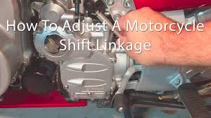 how to adjust a motorcycle shift linkage yamaha fjr1300 youtube