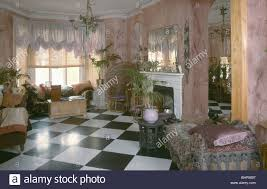 Victorian Livingroom by Black White Checker Board Vinyl Flooring In Victorian Style